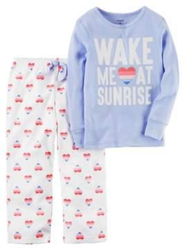 Carter's Infant Girls Purple Wake Me At Sunrise Pajamas Baby Sleep Set