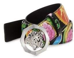 Versace Beverly Palm Medusa Leather Belt