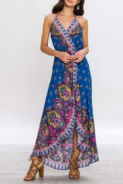 Flying Tomato Boho Maxi Blue Dress