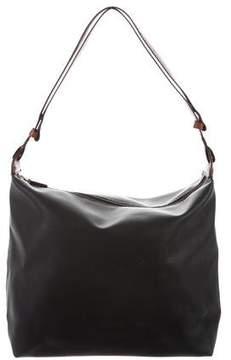 Bottega Veneta Leather-Trimmed Shoulder Bag