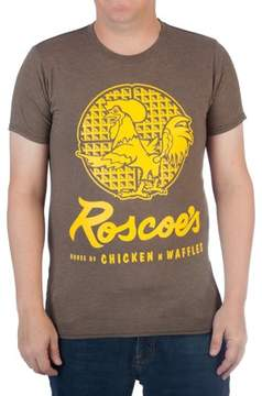 N. Movies & TV Men's Roscoe's Chicken Waffles Cotton Graphic Tee
