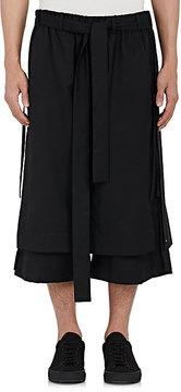 Craig Green Men's Wool Skirt-Overlay Crop Trousers