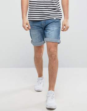 Pull&Bear Regular Fit Denim Shorts In Dark Wash