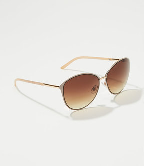 LOFT Slim Round Sunglasses