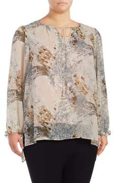 Context Plus Printed Long-Sleeve Blouse