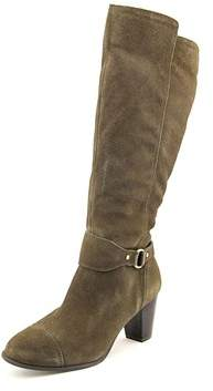 Giani Bernini Womens Cagney Leather Round Toe Mid-calf Riding Boots.