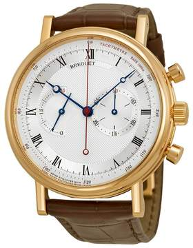 Breguet Classique Automatic Silvered Dial Alligator Leather Men's Watch