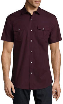 Claiborne Short Sleeve Button-Front Shirt