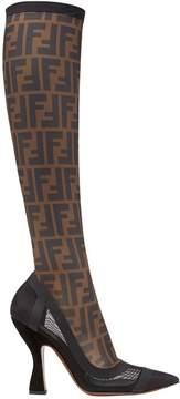 Fendi Colibrì knee high boots