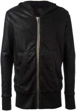 RtA metallic zipped hoodie