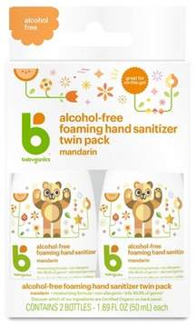 Babyganics Alcohol-Free On-The-Go Foaming Hand Sanitizer, Tangerine - 1.69oz Pump Bottle (2pk)