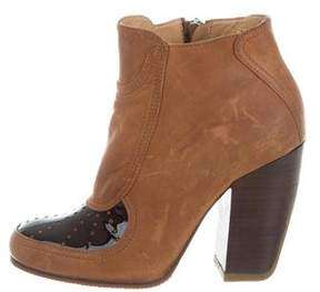 Dries Van Noten Distressed Round-Toe Ankle Boots