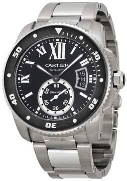 Cartier Calibre de Diver Black Dial Steel Men's Watch