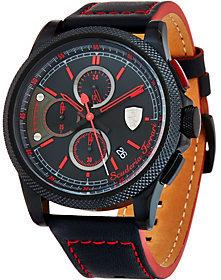 Ferrari Men's Black LEather Strap Formula Italias Watch