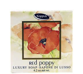 Smallflower Red Poppy Soap by Kappus (125g Bar)