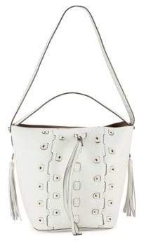 Furla Vittoria Glam Leather Drawstring Bucket Bag