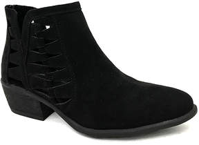 Bamboo Black Cutout Sadie Ankle Boot - Women