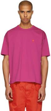 Ami Alexandre Mattiussi SSENSE Exclusive Pink Boxy Ami de Coeur T-Shirt