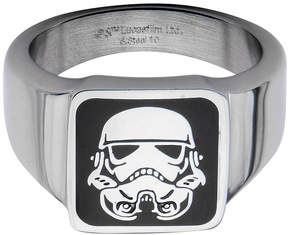 Star Wars FINE JEWELRY Stainless Steel Stormtrooper Square Top Ring