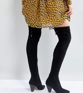 Asos KAYLEE Cone Heel Over The Knee Boots