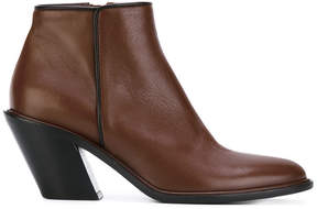 A.F.Vandevorst slant heel ankle boot