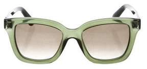 Valentino Resin Tinted Sunglasses