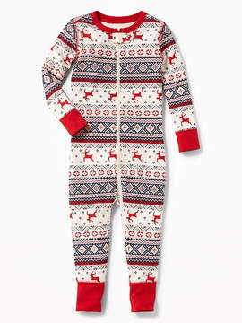 Old Navy Holiday-Print One-Piece Sleeper for Toddler & Baby