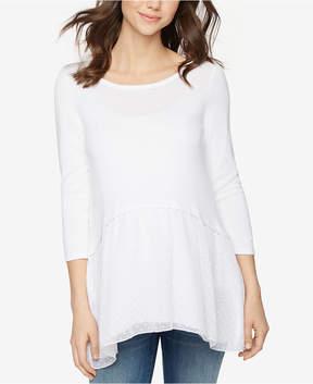 Design History Maternity Handkerchief-Hem Sweater