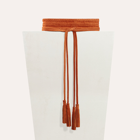 Maje Large belt with suede fastening