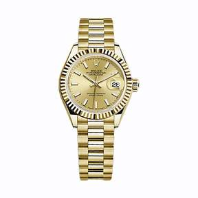 Rolex Oyster Perpetual Datejust Champagne Dial 18 Carat Yellow Gold President Automatic Men's Watch