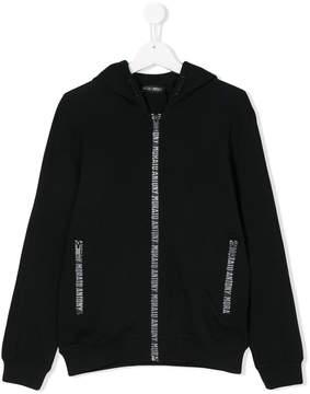 Antony Morato teen logo zip-up hoodie