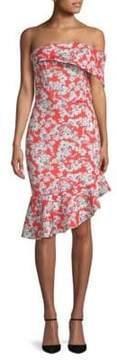 Alexia Admor Floral Off-the-Shoulder Asymmetrical Dress