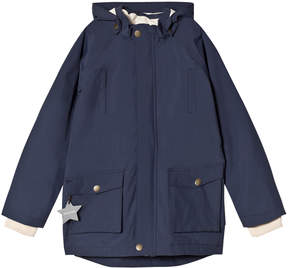 Mini A Ture Navy Blue Waterproof Parker Jacket