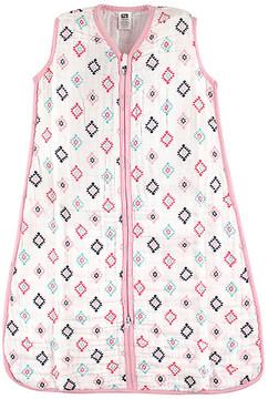 Hudson Baby Pink & Teal Geometric Sleeping Bag - Newborn & Infant