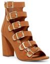 Breckelle's Ali Strappy Buckled Block Heel Sandal