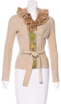 Blumarine Fur-Accented Wool Jacket