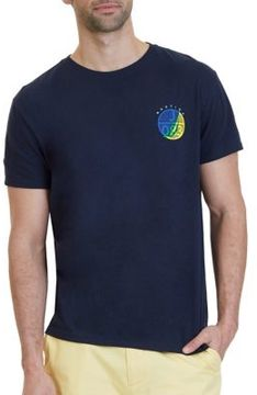 Nautica Circle Graphic Cotton Shirt