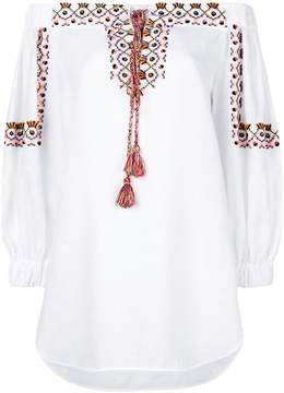 Ermanno Scervino lace-up embroidered tunic