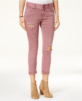 Celebrity Pink Juniors' Ripped Boyfriend Jeans