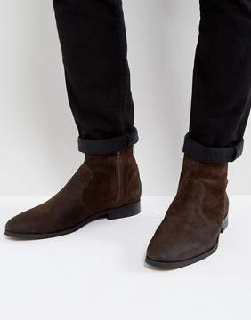 Frank Wright Deconstructed Boots Brown Suede