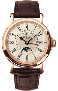 Patek Philippe 5159R-001 18K Rose Gold & Brown Leather 38mm Mens Watch