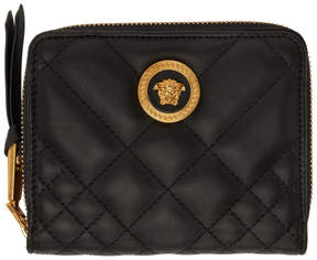 Versace Black Quilted Medusa Tribute Wallet
