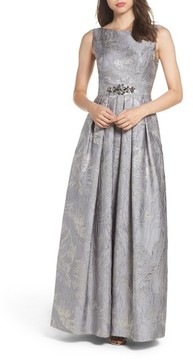 Eliza J Women's Embellished Brocade Ballgown