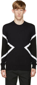 Neil Barrett Blue and Black Modernist Sweater