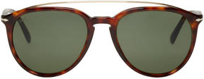 Persol Tortoiseshell Double Bridge Sunglasses