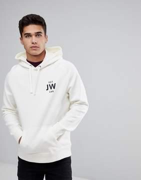 Jack Wills Batsford JW Popover Hoodie In Off White