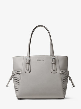 Michael Kors Voyager Small Saffiano Leather Tote - GREY - STYLE