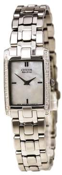 Citizen Women's EG3170-54D 'Stiletto' Diamond-Accented Stainless Steel Eco Drive Watch