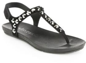 Pedro Garcia Judith Studded Suede Thong Sandals