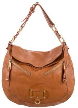 Marc Jacobs Distressed Leather Hobo - BROWN - STYLE